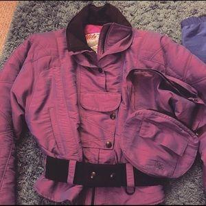 Vintage NILS Ski Jacket & Matching Waist Pouch